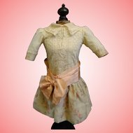 Vintage Doll Dress for French or German Bisque Doll