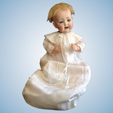 "22"" Really Cute German Bisque Character Baby by Kley and Hahn"