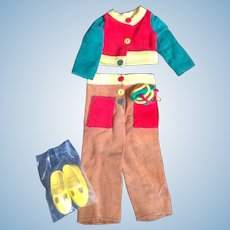 """Vintage Crissy's Cousin - Velvet - Mod Corduroy Outfit w/ Yellow Shoes """"Minty"""""""