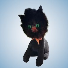 Vintage Whimsical Black Cat - End of Summer Sale