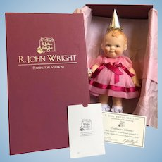 "R. John Wright 2011 Convention Doll Scootles ""Celebration' Doll - MIB"