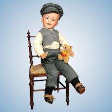 Charming Antique French Bisque SFBJ 227 Character Boy Doll