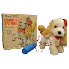 Vintage Battery Powered Remote Control Charming Spaniel by Deluxe Japan