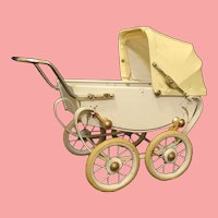 Vintage French Doll Carriage / Pram by RED