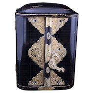 Japanese Meiji black and gold lacquer Butsudan alter shrine circa 1900