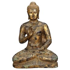 Antique Gilded Bronze Burmese Buddha 18th/19th Century