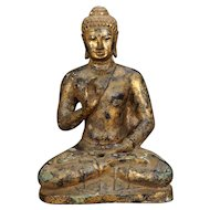 Antique Gilded Bronze Burmese Buddha 18th/19th Century
