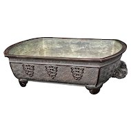 Japanese Bronze Footed Flower Arranging Vessel Meiji Period or Bonsai Planter
