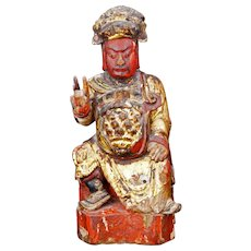 Chinese Wood Carving of a Bodhisattva 19th Century