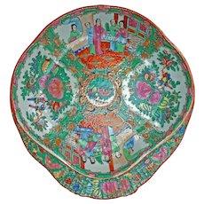 Chinese Rose Medallion Shrimp Dish Circa 1920