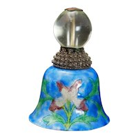 Qing Chinese Mandarin Hat Finial with Clear Peking Glass Bead