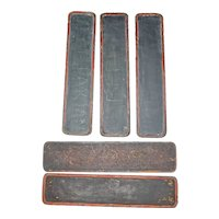 Qing Chinese Scholars Lacquer Tablets 19th Century