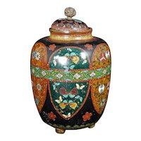 Japanese cloisonné Ginger Jar late 19th Century Meiji Period