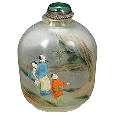 Chinese Republic Era Inside/Reverse Painted Snuff Bottle