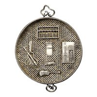 Chinese Silver Scholar's Objects Toggle Qing Dynasty