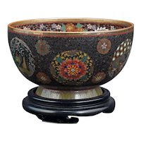 Japanese Cloisonné Dragon Bowl Meiji Period