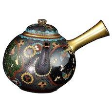 Japanese Cloisonné Teapot with Handle Meiji Period