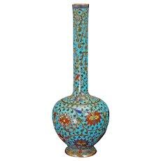 Chinese 17th/18th C Cloisonné Bottle Vase