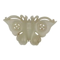 Chinese Late Qing/Republic Nephrite Jade Butterfly Pale Green