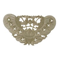 Chinese Hardstone  Butterfly Ornament Late Qing/Republic