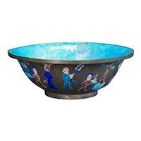 Chinese Enameled Metal Bowl late Qing/Republic Period