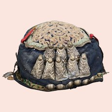 Antique Chinese Miao Ethnic Minority Child's Hat Early 20th C