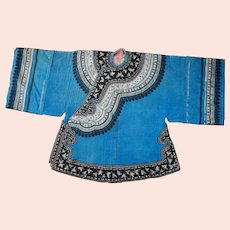 Antique Chinese Silk Women's Winter Robe Late Qing