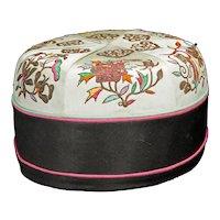 Chinese Silk Man's Hat Circa 1920