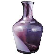Vintage Japanese swirled glass sake bottle early 20th century