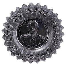 U. S. Grant Victorian memorial EAPG souvenir plate late 19th century