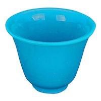 Chinese Turquoise Peking Glass Tea/Wine Cup Republic Era