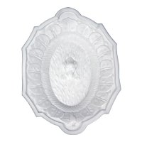 EAPG Milk Glass Platter with a Retriever Dog in a Pond late 19th century