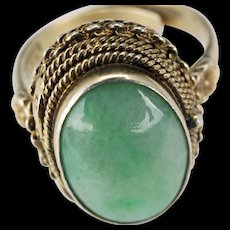 """Chinese silver and jade adjustable """"poison ring"""" late 19th century"""