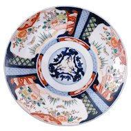 Very large Japanese colored Imari porcelain charger 19th century