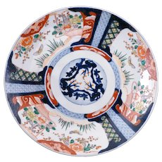 Very large Japanese colored Imari porcelain charger 19th century - Red Tag Sale Item