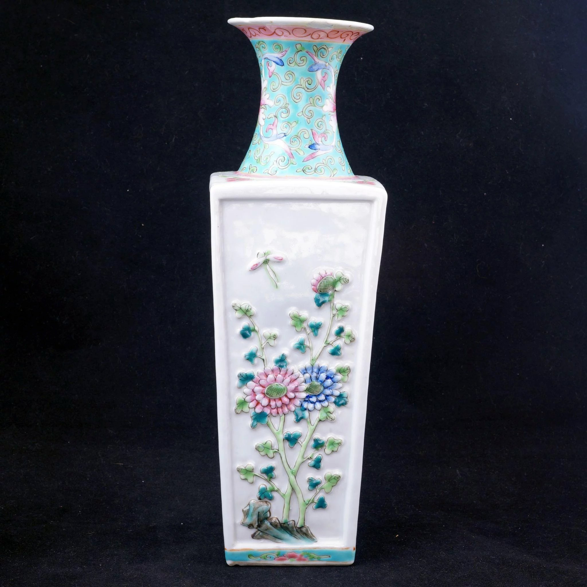 Early 20th Century Chinese Porcelain Rectangular Vase With