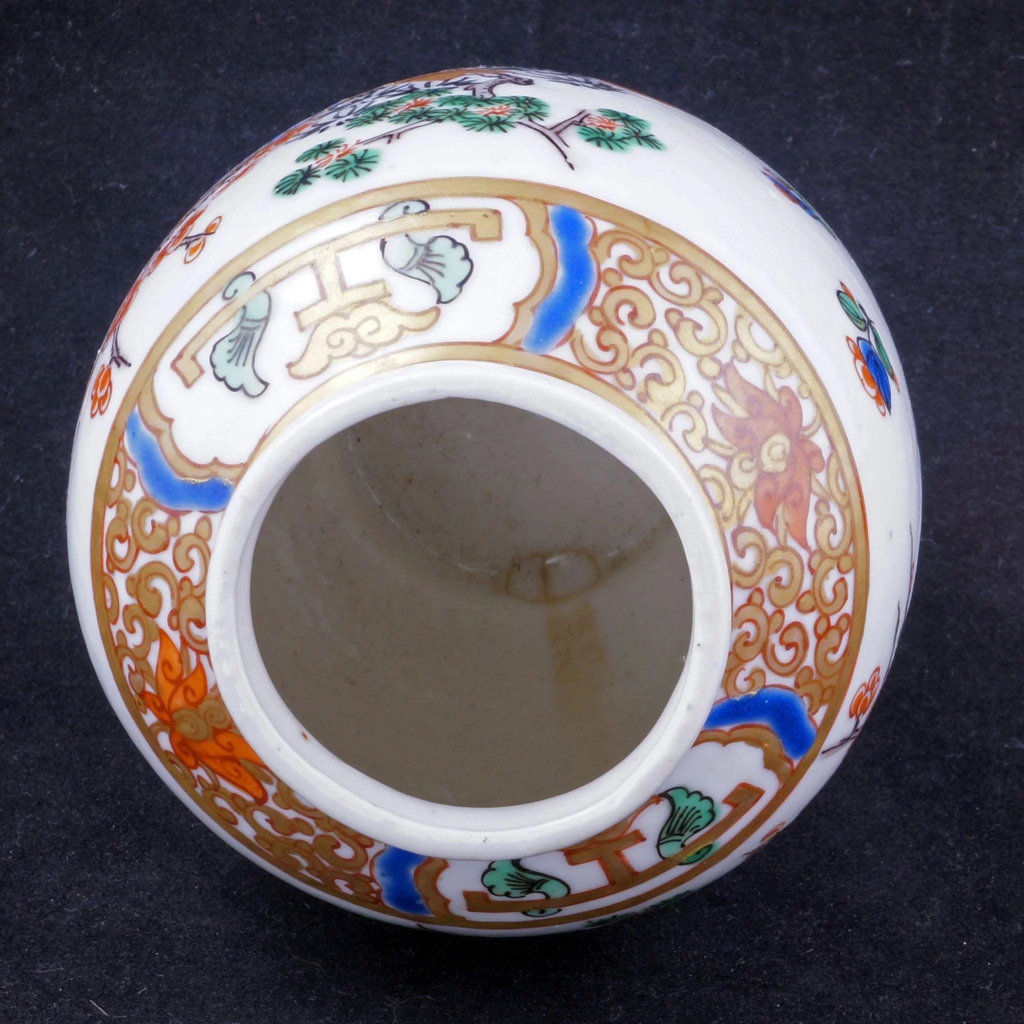 Click to expand & Antique French porcelain and brass pomander late 19th/early 20th ...