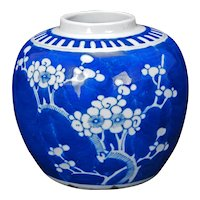 Chinese Porcelain Prunus Ginger Jar Republic Period