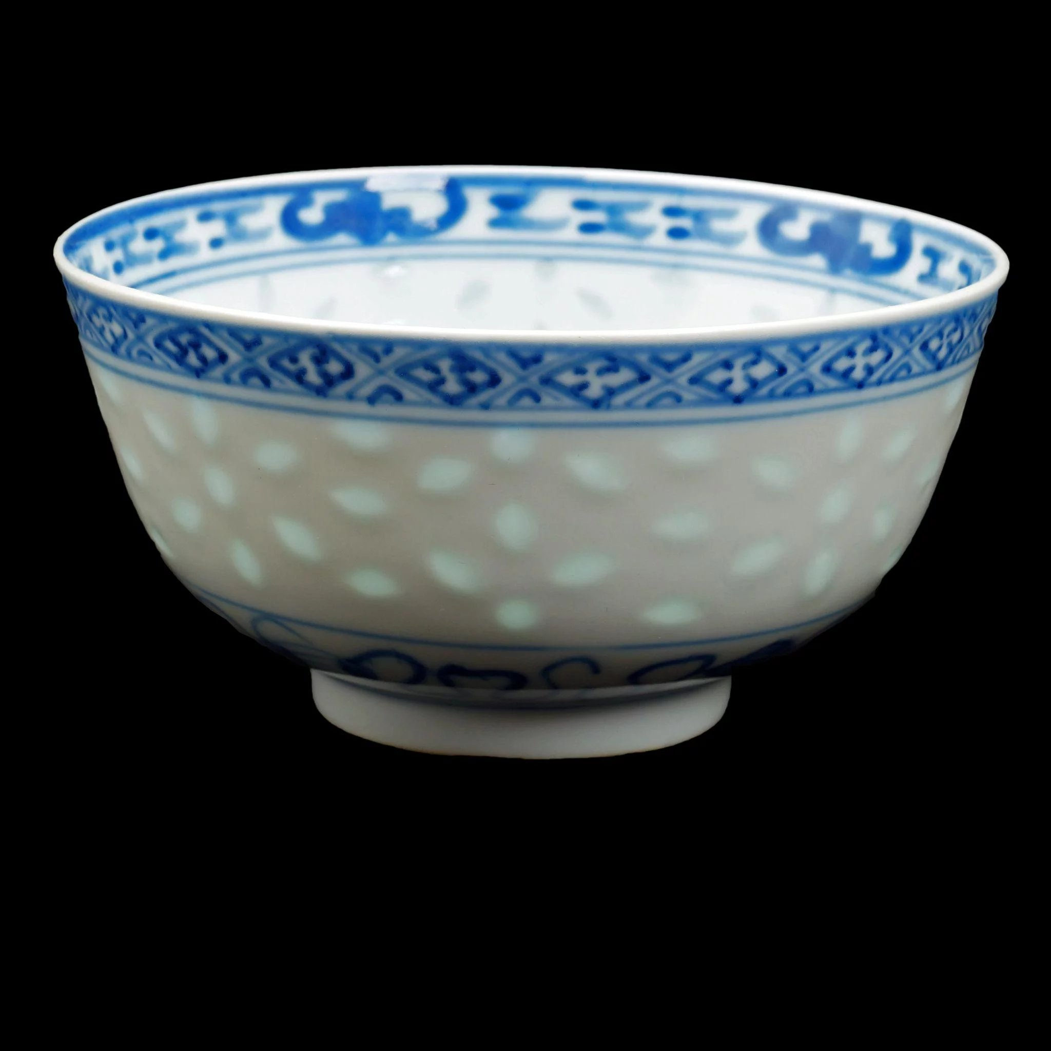 Pair Of Chinese Porcelain Blue And White Bowls With Kangxi