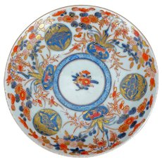 Antique Japanese porcelain Imari saucer with intricate painting 19th century
