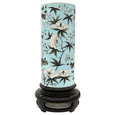Chinese porcelain pale turquoise Dayazhai sleeve vase late Qing Dynasty