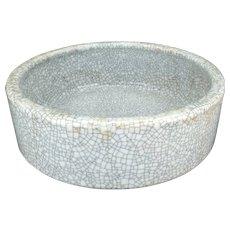 Chinese white crackle glaze ware brush washer – Early 20th C Republic era
