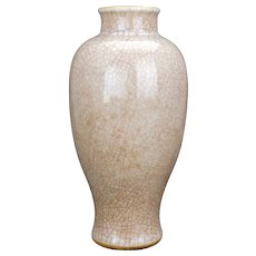 Chinese crackle ware baluster vase 19th century