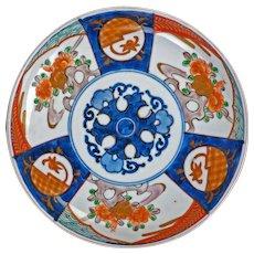 Japanese porcelain colored Imari plate 19th century