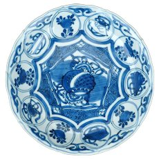 Wanli Chinese porcelain Kraak ware blue and white porcelain plate 16th century