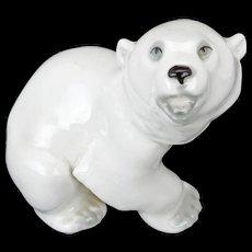 Soviet Union Lomonosov Polar Bear Figurine 1970's