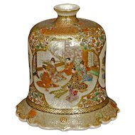Fine Japanese Ceramic Satsuma water dropper with Garden Scenes 19th Century Meiji Period
