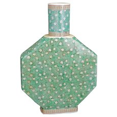 Large Chinese Porcelain Vase with Prunus and Ice Famille Verte Design Republic Period