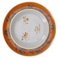 Chinese Porcelain Export Dinner Plate Brown/Gold 18th Century