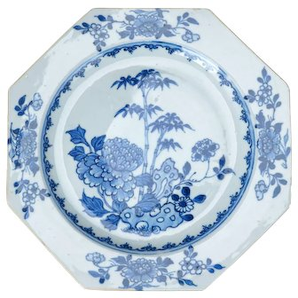 18th/19th Century Blue and White Porcelain Chinese Export Plate